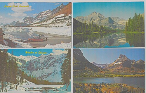 Group of 12 Glacier National Park Montana scenic views vintage pc Z10342