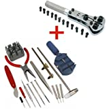 SE Tools™ 16 PCS Watch Tool Kit Plus Adjustable Watch Wrench All In One