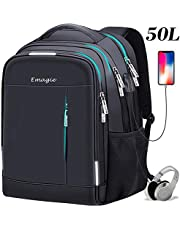 Business Laptop Backpack Travel USB Anti-theft College bag with USB Charging Port Headphone Compartment Fits 17 inch Laptop Notebook Waterproof School Rucksack Casual Hiking Knapsack Daypack Bookbag for Women Men(Black)