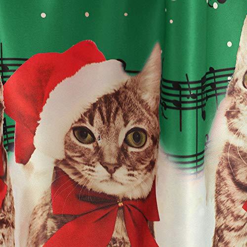 Ete Femmes Noël O Impression Fête neck Tankinis Joyeux Insérer Père Robe Femme Dentelle Courte Elecenty Claus Vert1 Cérémonie vxqfEwWY