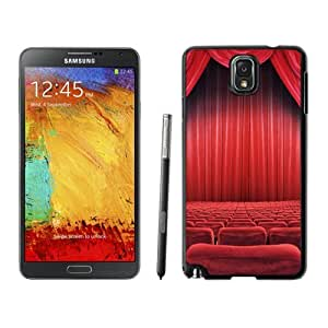 NEW Unique Custom Designed Samsung Galaxy Note 3 N900A N900V N900P N900T Phone Case With Theatre Seats Red Curtain_Black Phone Case