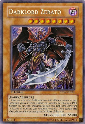 (Yu-Gi-Oh Phantom Darkness - Darklord Zerato Secret Rare TDN-EN081)