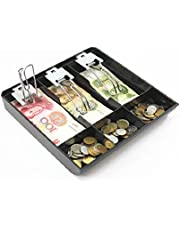 GUANHE Cash register box New Classify store Cashier coin Drawer box cash drawer tray (3 Compartments)