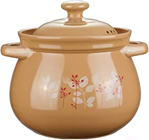 Clay Pot For Cooking Ceramic Casserole Clay Pot Terracotta Casserole Pot - Suitable For Stewing Nutritious And Delicious Porridge For The Family-4.2L