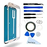 SAMSUNG GALAXY NOTE 2 N7100 WHITE DISPLAY TOUCHSCREEN REPLACEMENT KIT 12 PIECES INCLUDING 1 REPLACEMENT FRONT GLASS FOR SAMSUNG GALAXY NOTE 2 N7100 / 1 PAIR OF TWEEZERS / 1 ROLL OF 2MM ADHESIVE TAPE / 1 TOOL KIT / 1 MICROFIBER CLEANING CLOTH / WIRE