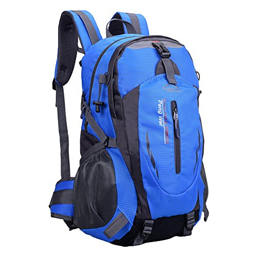 Outdoor Sports Wandern Tasche Reise Bergsteigen Camping Schultertasche Outdoor Groß Kapazität Wasserdicht Sports Fitness Tasche blau