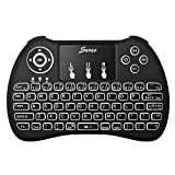 (With Backlit)Seneo 2.4GHz Wireless Mini Keyboard with Mouse Touchpad, LED Backlit, for Android TV Box, Google TV Box, Smart TV, Xbox, IPTV, HTPC, PC, Laptop