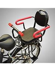 PEALOV Cykel barnstol bak med ledstång, stabil och säker cykel bakre monterad barnstol för barn i åldern 2-7, håller upp till 45 kg / 45 kg, lämplig för alla typer av cyklar
