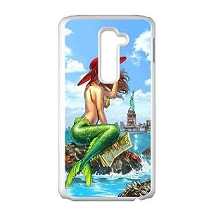 LG G2 Little mermaid Phone Back Case Art Print Design Hard Shell Protection MN098768
