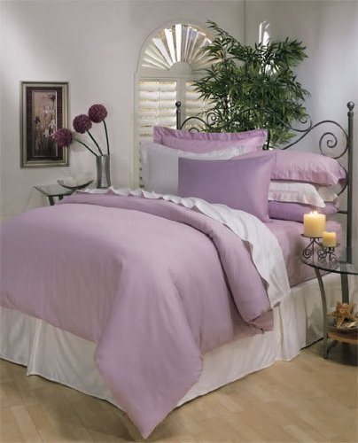 8PC ITALIAN 1200TC Egyptian Cotton GOOSE DOWN COMFORTER Bed in a Bag - Sheet , Duvet Queen Lavender (Italian Bed)