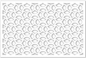 Acurio 3248ID-2-WH-CAS Lattice Casablanca Panel Screen as Trellis, Patio & Outdoor Decor, White