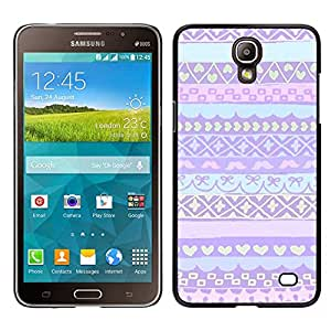 LECELL--Funda protectora / Cubierta / Piel For Samsung Galaxy Mega 2 -- rosa púrpura suéter del invierno nórdico Alaska --