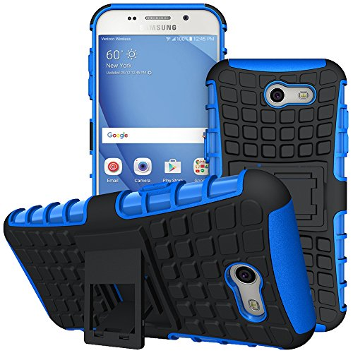 For Samsung Galaxy J3 Emerge Case, J3 Prime / J3 Mission / J3 Eclipse / J3 2017 / J3 Luna Pro / Sol 2 Case, Viodolge Tough Rugged Dual Layer Protective Phone Cover with Kickstand (blue) ()