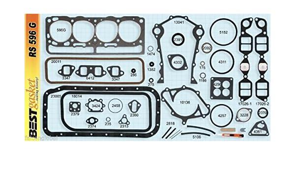 Amazon com: Lincoln/Mercury 368 Y-Block Full Engine Gasket