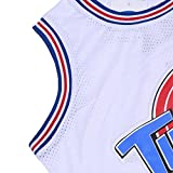 CAIYOO Youth 23# Space Moive Jersey Kids Basketball Jersey for Boys S-XL White/Black
