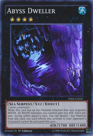 Yu-Gi-Oh! - Abyss Dweller  - The Secret Forces - 1st Edition