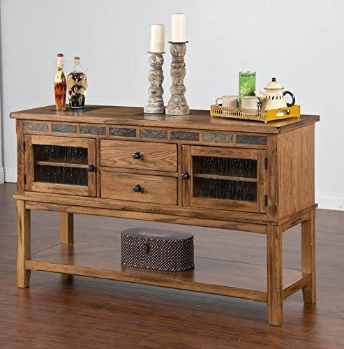 Sunny Designs Sedona Server with Two (2 Drawer Oak Hutch)