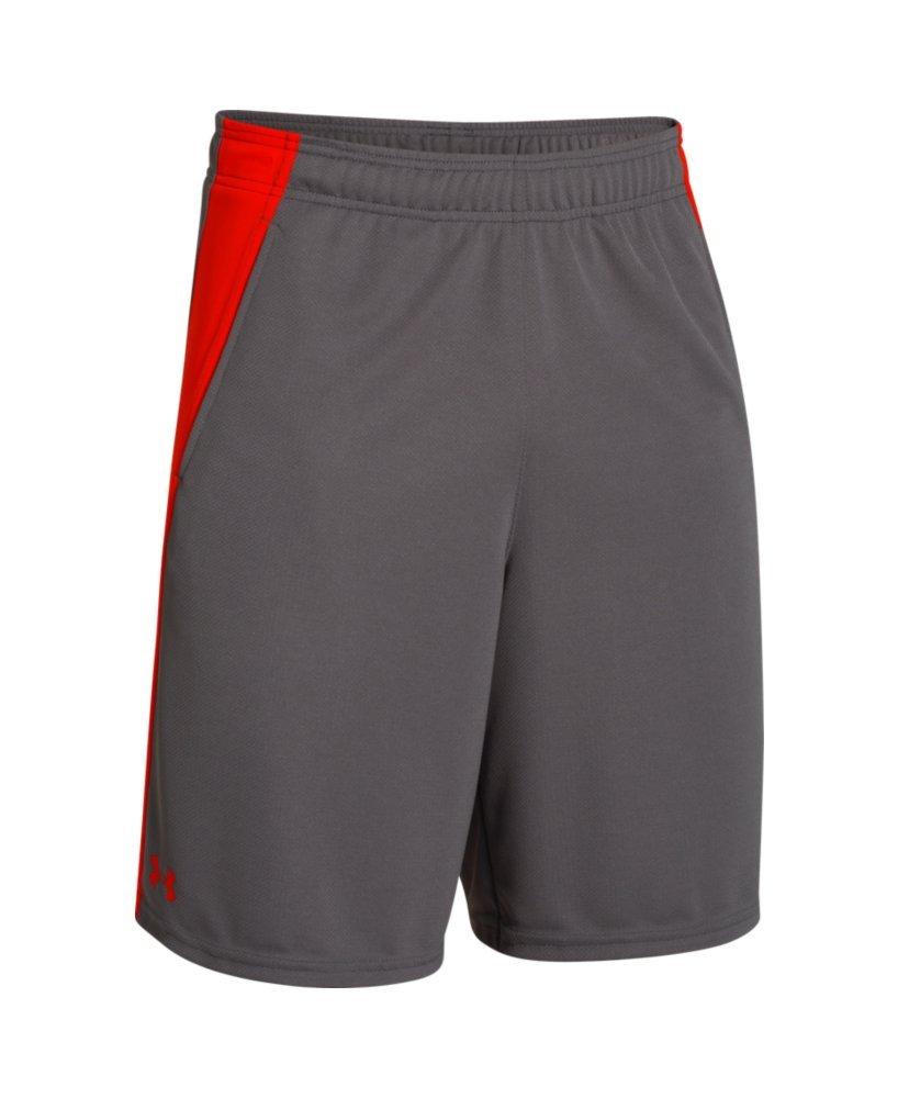 Under ArmourメンズUA Quick & Easy Shorts B00UF3Y274 グレー/レッド Medium