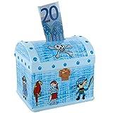 Piggy Bank Money Box, Treasure chest Pirate Child Happy Birthday Box–Money Box–Baby Boy