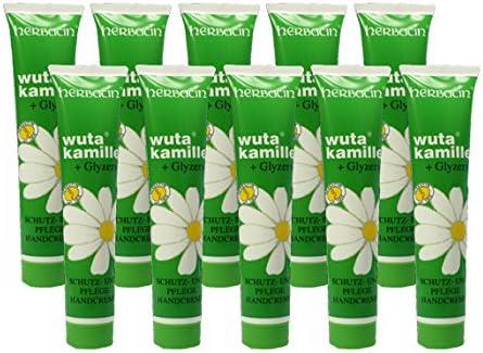 wuta kamille 82141 Herbacin Hand Cream + Glycerine Tube 75 ml Pack of 5 x 75 ml