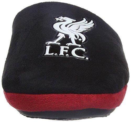 Bafiz Liverpool Game, Pantuflas para Niños Negro (Black/Red 912)