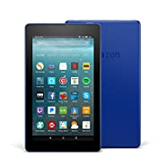 "Certified Refurbished Fire 7 Tablet with Alexa, 7"" Display, 8 GB, Marine Blue - with Special Offers"