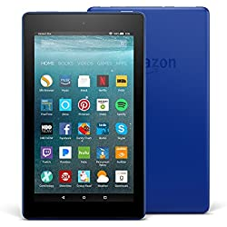 "All-New Fire 7 Tablet with Alexa, 7"" Display, 16 GB, Marine Blue - with Special Offers"