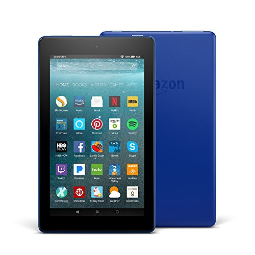 "All-New Fire 7 Tablet with Alexa, 7"" Display, 8 GB, Marine Blue - with Special Offers"
