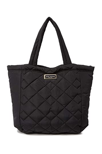 51b719e591eb Amazon.com  Marc Jacobs Large Quilted Nylon Tote (Black)  Shoes