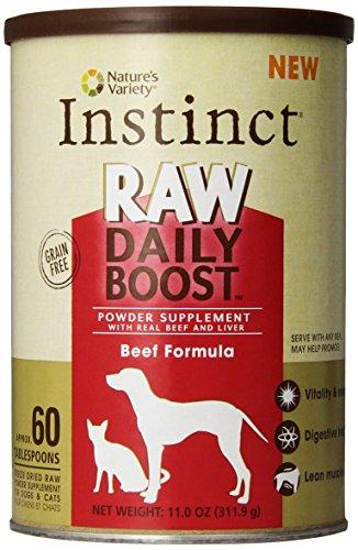Instinct Raw Daily Supplément Boost de boeuf en poudre par Variety de la nature, 11-once traîneau