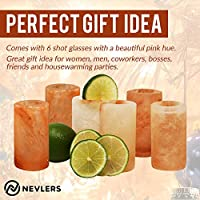 Great for Tequila Shots Set of 4 Pieces 100/% Himalayan Salt Nevlers All Natural Handcrafted Pink Himalayan Salt Shot Glasses 3 Tall Shot Glasses