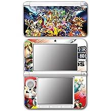 Super Smash Bros Melee Brawl Mario Pikachu Yoshi Mega Man Zelda Sonic Metroid Fire Emblem Video Game Vinyl Decal Skin Sticker Cover for Original Nintendo 3DS XL System