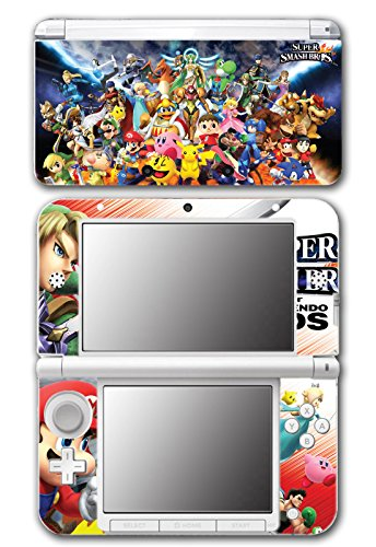Super Smash Bros Melee Brawl Mario Pikachu Yoshi Mega Man Zelda Sonic Metroid Fire Emblem Video Game Vinyl Decal Skin Sticker Cover for Original Nintendo 3DS XL System