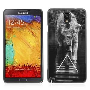 YOYOSHOP [Cool B&W Wolf Triangle] Samsung Galaxy Note 3 Case by mcsharks