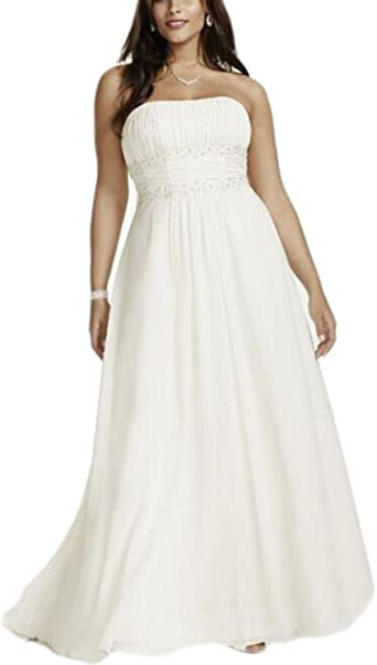 Empire Waist Wedding Dress 63 Off Awi Com,Lace Wedding Dress With Bow In Back