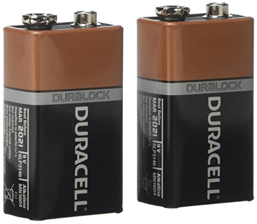 Duracell Alkaline 9V Battery  Mn1604 (Pack Of 2)
