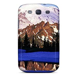 Galaxy Case - Tpu Case Protective For Galaxy S3- Tipsoo Lake Mount Rainer Washington