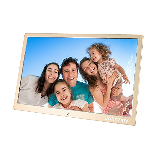 Digital Picture Frame 15.4 inch Metal Photo Frame 1280×800 Resolution with Remote Control,USB/SD/MMC/MS Card Port,Play Photo/Music/Video/Calendar/12 Languages