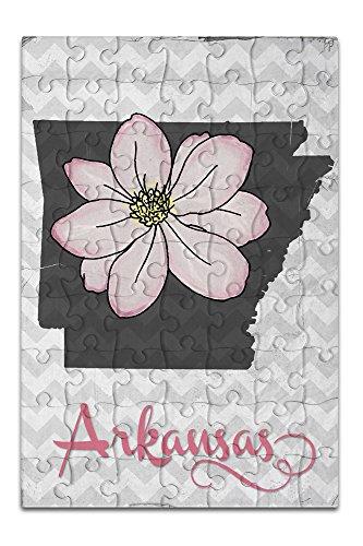 Arkansas - State Flower - Apple Blossom (8x12 Premium Acrylic Puzzle, 63 Pieces)