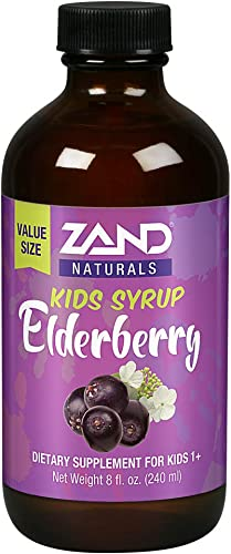 Zand Kids Elderberry Honey Syrup Childrens Immune Support with Rose Hips Echinacea Kids 1 Years 8oz