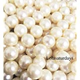LolaSaturdays Pearls 1-Lbs loose beads - no hole (14mm, ivory)
