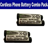 Panasonic KX-TG6512B Cordless Phone Battery Combo-Pack includes: 2 x UL132 Batteries