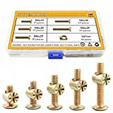Sutemribor 120PCS M6 x 15/20/25/30/35mm Zinc Plated Hex Socket Head Cap Screws Bolts Furniture Bolts with M Barrel Nuts Assortment Kit for Furniture Cots Beds Crib and Chairs