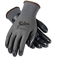 G-Tek 34-C232/XL Seamless Knit Nylon Glove with Nitrile Coated Foam Grip on Palm and Fingers, Economy Grade by G-Tek