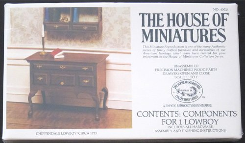 - The House of Miniatures Chippendale Lowboy/ Circa 1725  - Wood Assembly Kit No. 40024