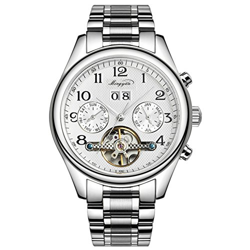 watches/Men's skeleton waterproof watch/Steel Tourbillon watch-D ()