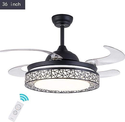 LiLiG Negro con lámpara de araña de Ventilador, luz de Techo ...