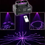 Mini Remote Purple Color Patterns DMX 512 Stage Lighting DJ Dance Party Home Show Projector Lights ADM-V150