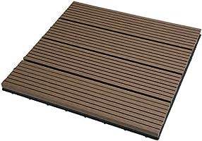 EUGAD 22x Suelo de Exterior WPC 30x30cm Terrazas del Piso 22 Set 2? Baldosas de Madera para Jardin, Terraza Marrón: Amazon.es: Bricolaje y herramientas
