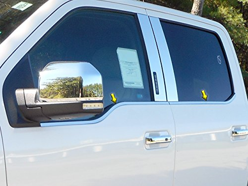 QAA FITS F-150 2015-2019 Ford 4 Pc: Stainless Steel Window Sill Trim, 4-Door, Super Crew Cab WS55316